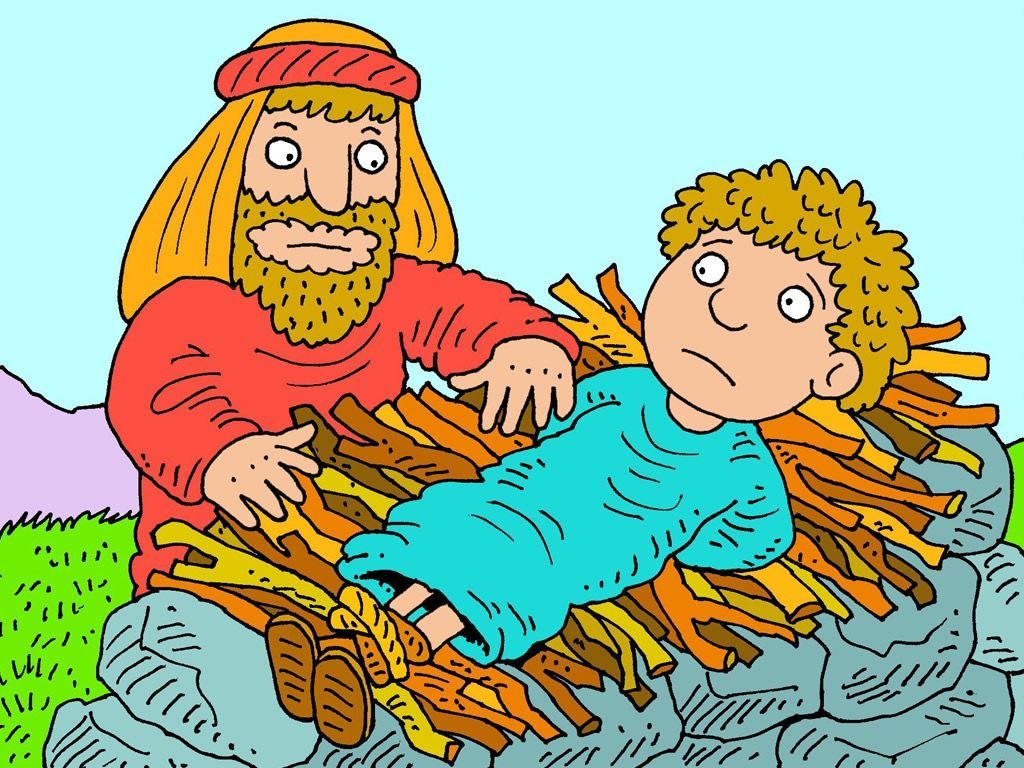 medium resolution of Abraham then laid the wood on the altar then bound his son and put him on  top of the wood. Surely Ab…   Bible illustrations