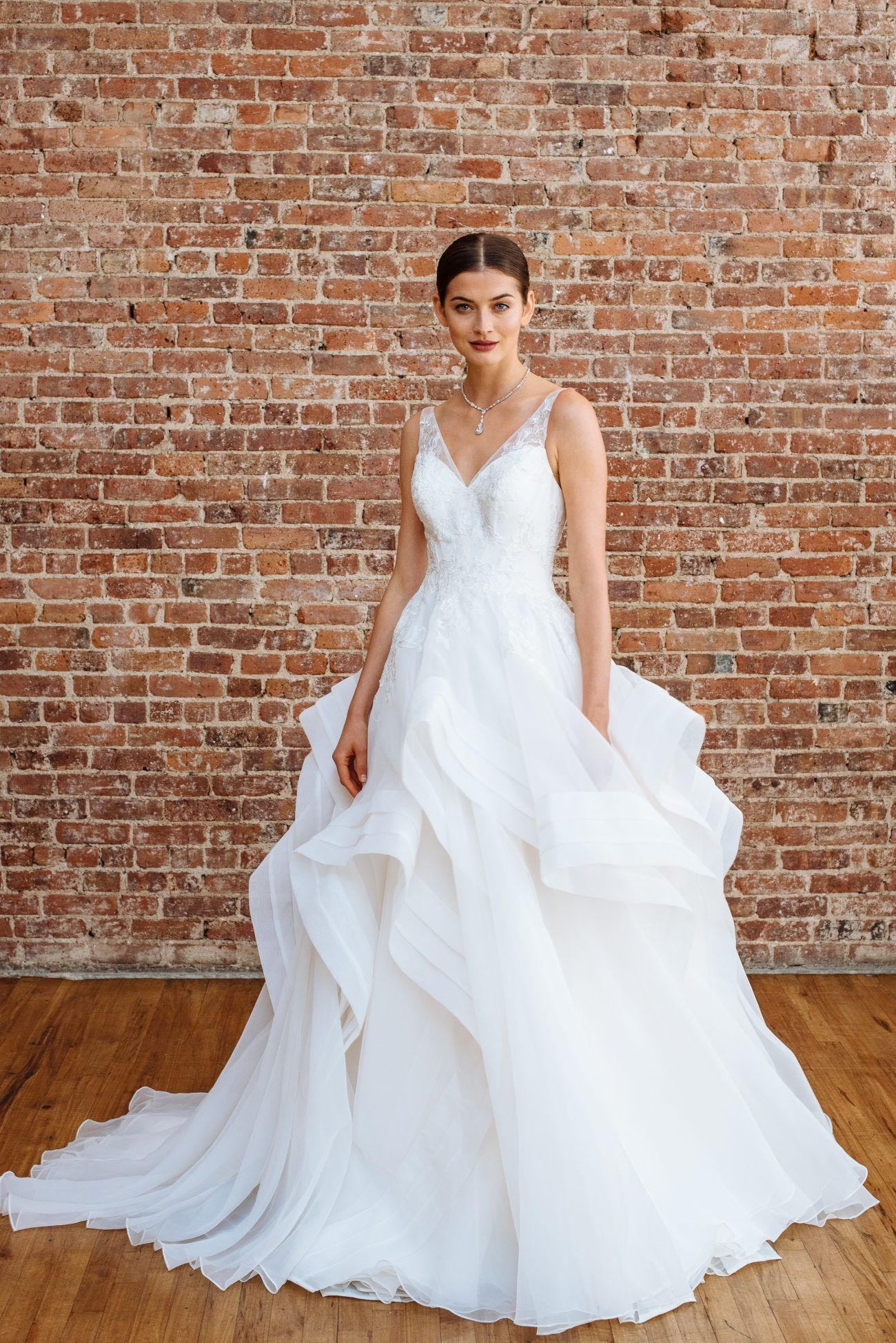 David S Bridal Spring 2018 Collection Once Wed Spring Wedding Dress Wedding Dresses Fitted Wedding Dress [ 1948 x 1300 Pixel ]
