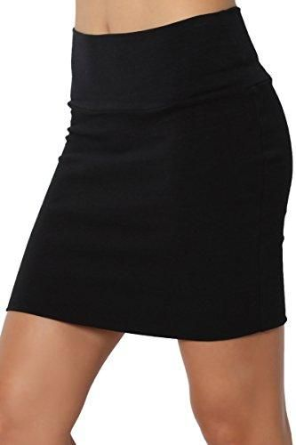 e17457119e Imported - Lightweight stretch cotton mini skirt - High waisted or  fold-over option - Pull on design