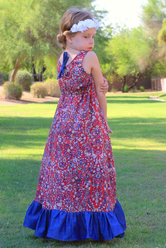 Harmony\'s Top, Dress, High Low & Maxi. PDF sewing patterns for girls ...