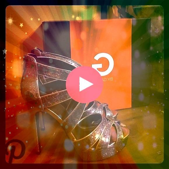 prom heels Worn only once with a few nicks  presented in the pictures Comes with the box Guess Shoes HeelsGuess prom heels Worn only once with a few nicks  presented in t...