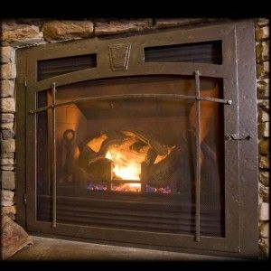 custom gas fireplace by ironhaus selway series shown with