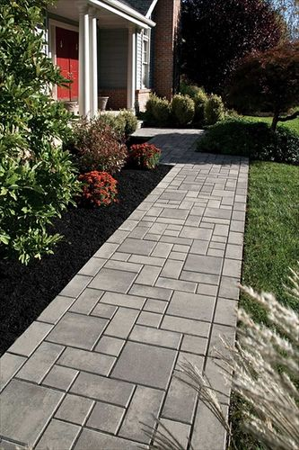 Concrete Pavers Walkway Landscaping Hardscape Design Pathway Landscaping