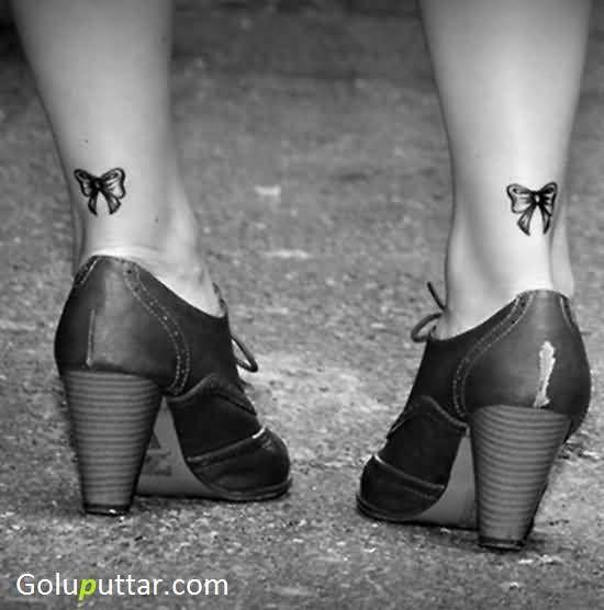 e1b74af2a Trendy Girl Shows Brilliant Bow Tattoo Design - Goluputtar.com ...