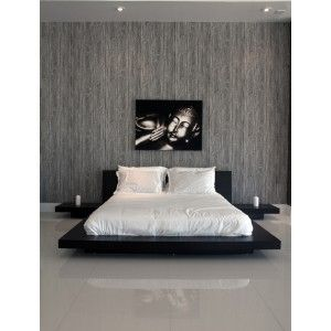 Modern contemporary japanese zen platform beds brown from - Modern japanese bedroom furniture ...