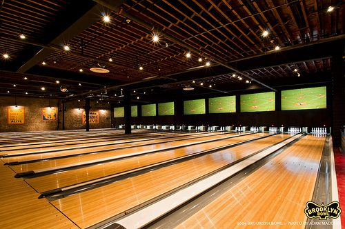 Have You Ever Seen A Bowling Alley As Cool Looking As Brooklyn Bowl Bowling Alley Bowling Bowling Center