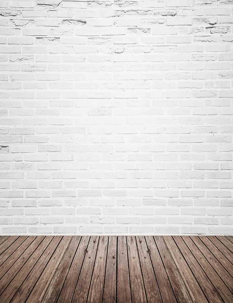 Retro White Brick Wall With Wood Floor Mat Texture Backdrop For Photography Q 0130 White Brick Walls White Brick Brick Wall