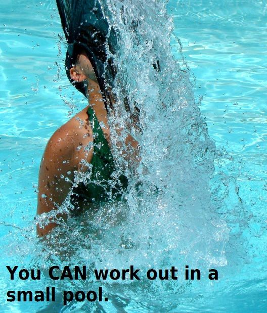 Exercise In A Small Pool Is Possible And Fun Swimming Pool Exercises Exercise Pool Pool Workout