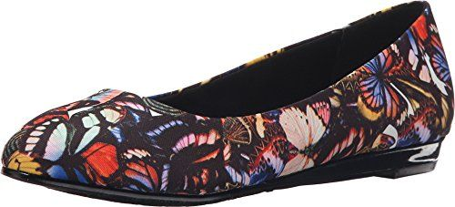 Soft Style By Hush Puppies Womens Darlene Flat Bright Multi Butterfly  Grosgrain 95 M US *