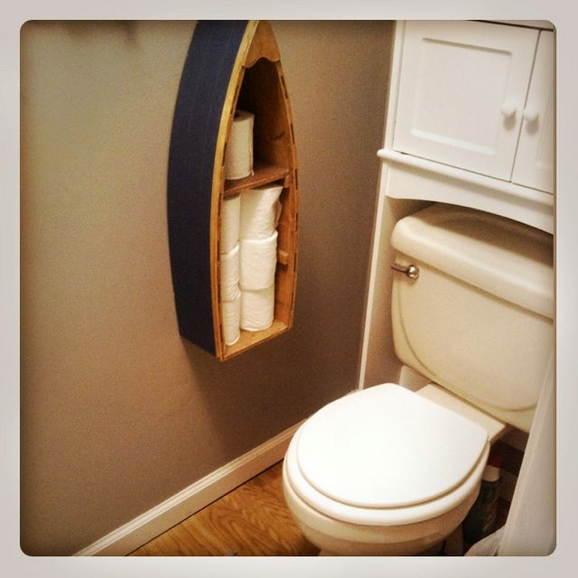 DIY canoe toilet paper holder Super cute