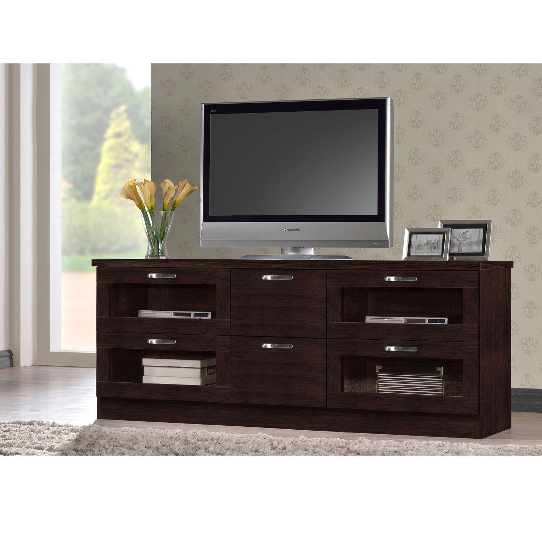 250 Tippett Tv Cabinet Comes In A Warm Dark Brown