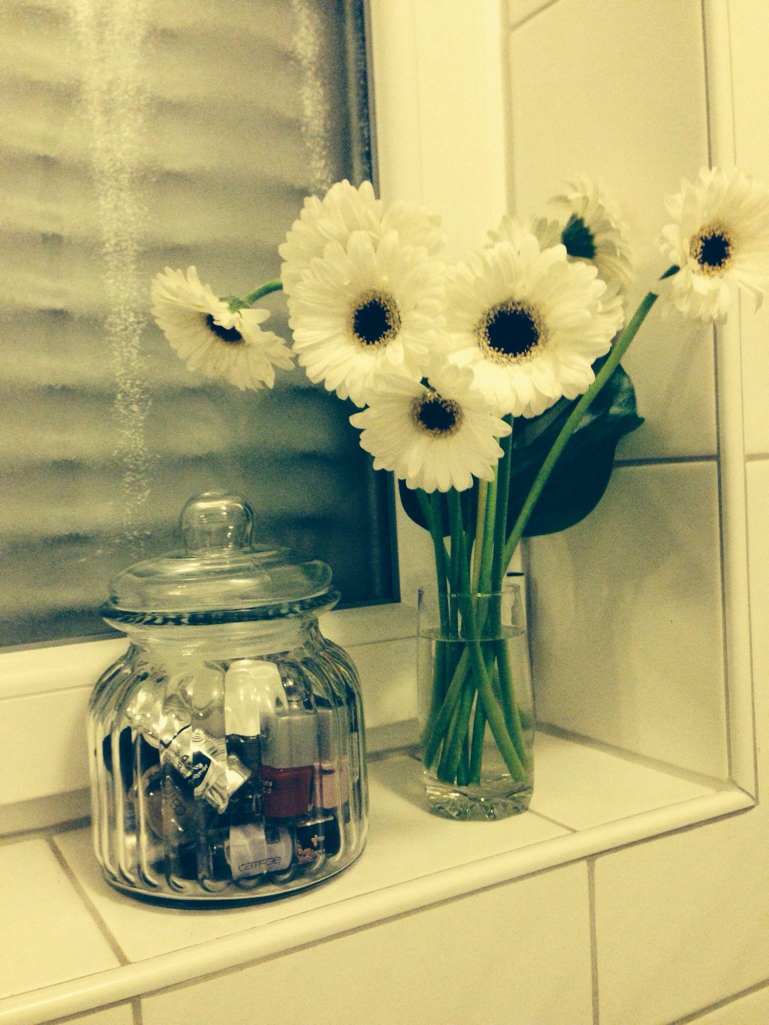 nagellack aufbewahrung im glas, badezimmer deko nail polish, Badezimmer ideen