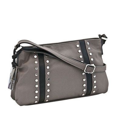 Take a look at this Gray Block Party Stud Crossbody Bag by Kenneth Cole Reaction on #zulily today!