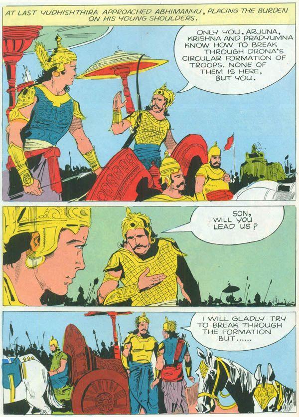 Heroes From The Mahabharata Bheeshma Drona Tales Of Arjuna Karna Abhimanyu Comic The Mahabharata Hero Comics