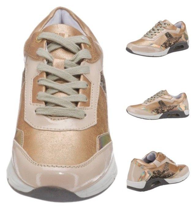 """BULLBOXER Damen Sneakers beige"" by modeonlinemarkt on Polyvore featuring Mode, sneakers, Damen und BULLBOXER"