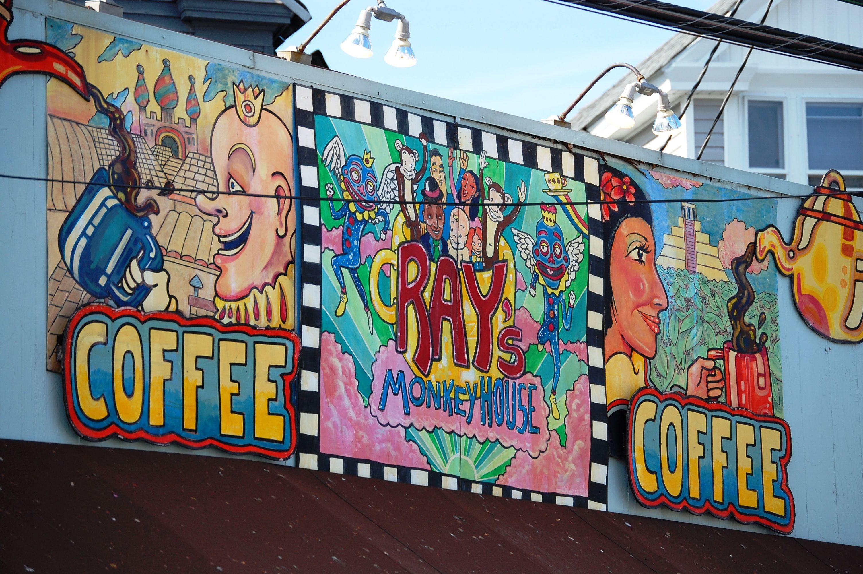 Wall Art On A Coffee Shop In Louisville Kentucky Mural Wall