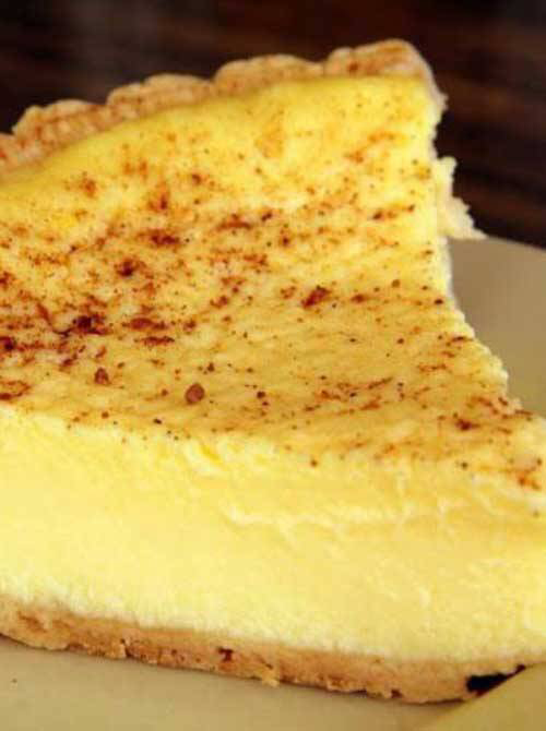 Recipe for Old Fashioned Custard Pie