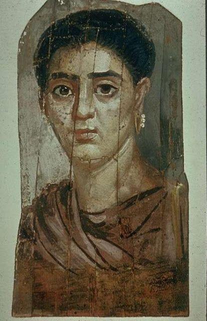 Fondation J.-E Berger-World Art Treasures, Portrait de femme Epoque romaine: 110-120 Hawara Egypt