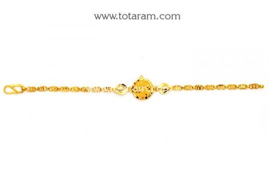 22K Gold Baby Bracelet Totaram Jewelers Buy Indian Gold jewelry