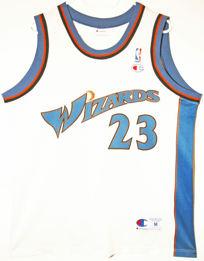 623a1fc68e7 Champion NBA Basketball Washington Wizards  23 Michael Jordan Trikot Jersey  Size 40 - Größe M - 49