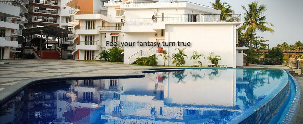 Exterior Pool View Mermaid Hotel Cochin