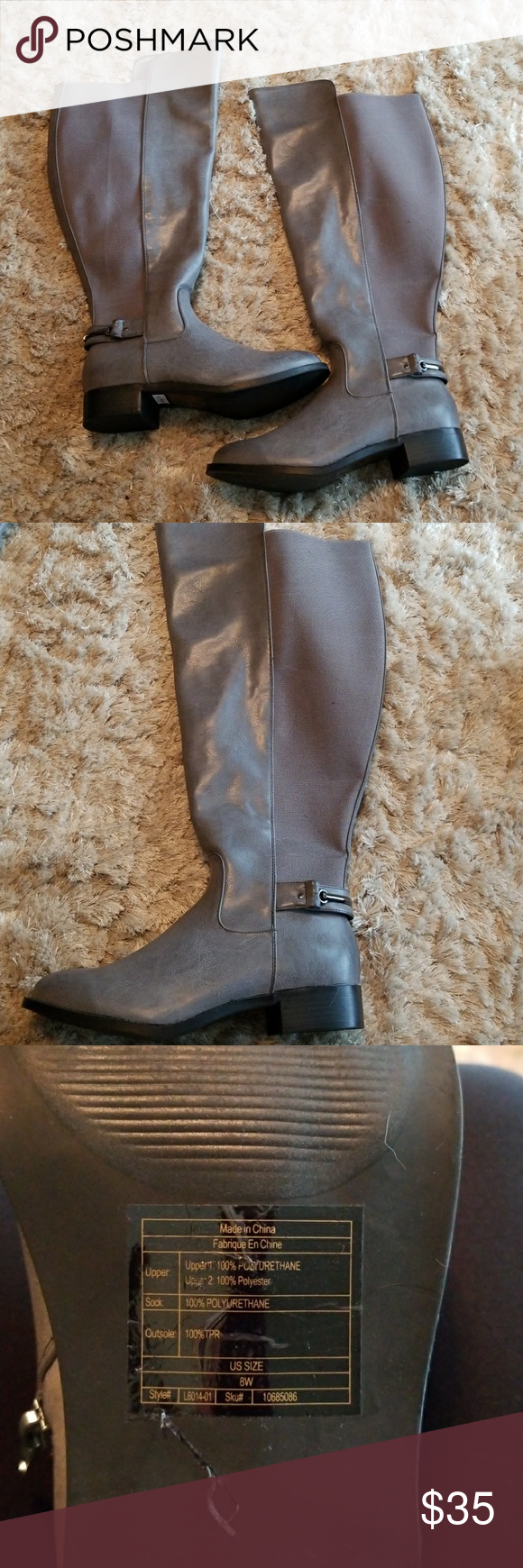 Torrid gray boots size 8 wide | Grey boots, Boots, Over the