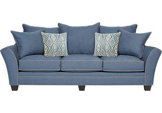 most affordable sleeper sofa how to wash down cushions aberdeen indigo 888 00 102w x 44d 40h find sofas for your home that will complement the rest of furniture