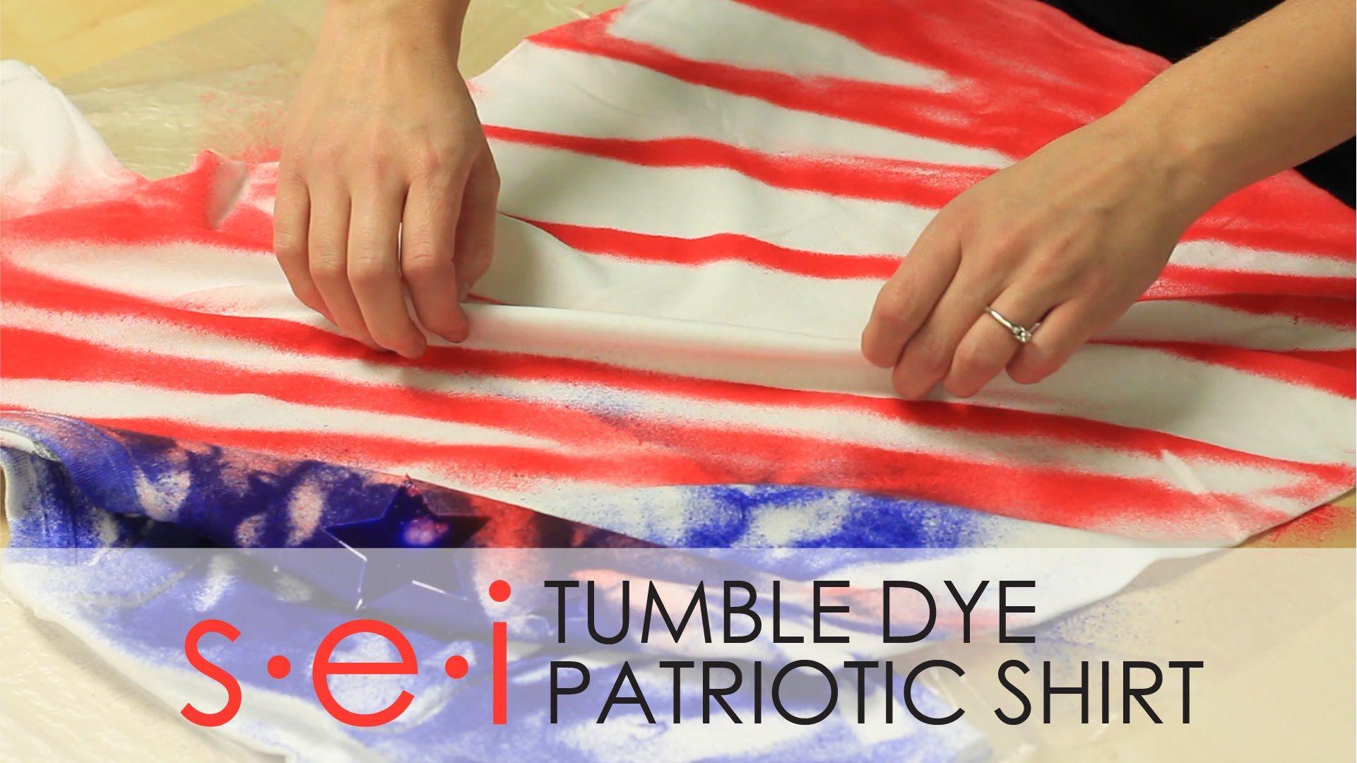 Diy patriotic tie dye shirt tutorial sei tumble dye