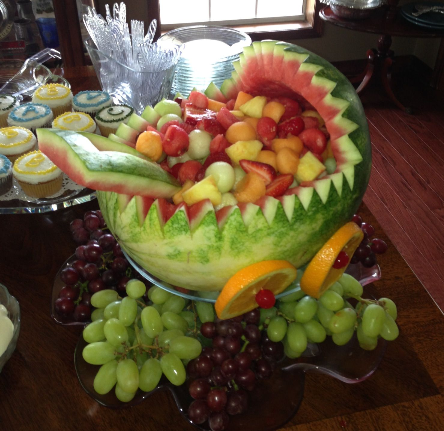 how to make a fruit tray for baby shower