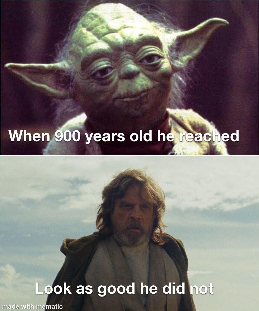 Yoda Star Wars Luke Skywalker Funny Meme in 2020 Star