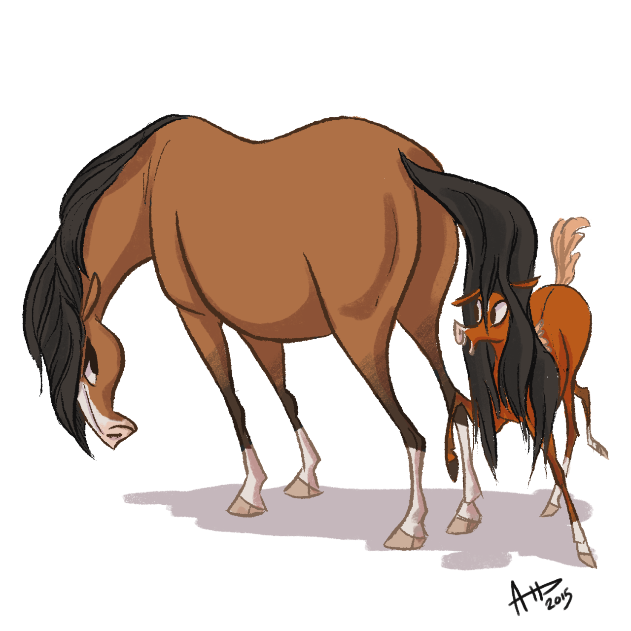 dhd 034: mare and foal since i missed out yesterday, you get two