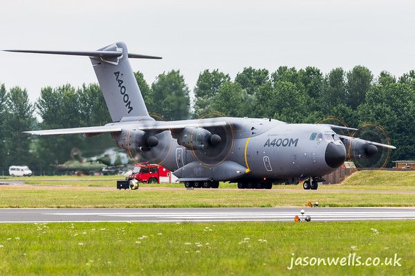 A400M Atlas prepares for take-off.  See the rest of my aviation images in full size by clicking on the thumbnail.  They are also available to buy in a variety for formats or as a digital download without the watermark.