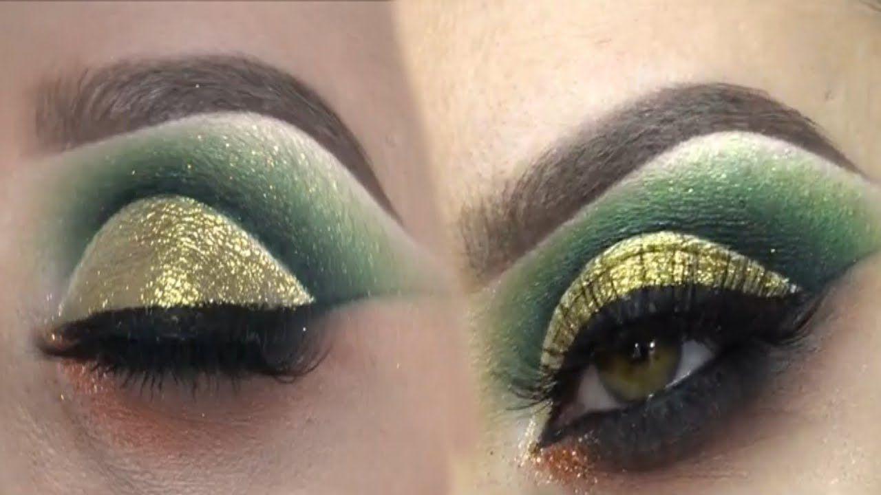 أجمل مكياج عيون ذهبي وأخضر للمناسبات المميزات 2020 Halloween Face Makeup Beauty Youtube