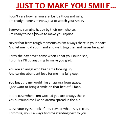 Your Smile Poems 2