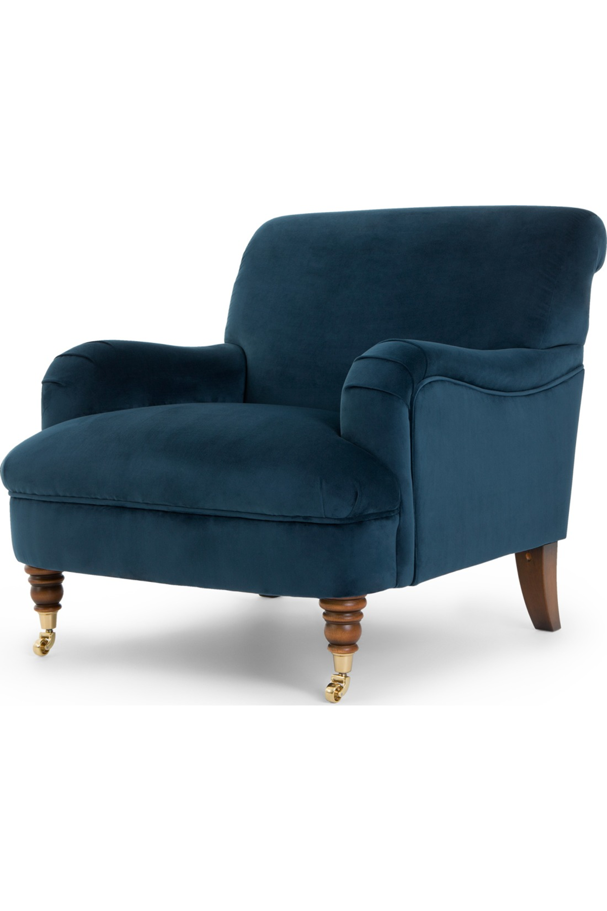 Best About The House Accent Armchair Midnight Blue Velvet With Images Lounge Chairs Living Room 400 x 300