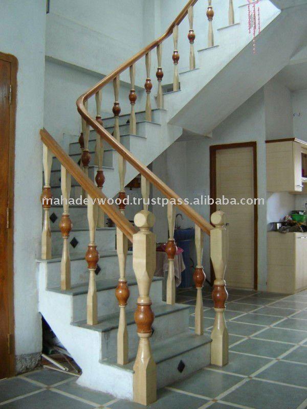 Beautiful Wooden Stair Railing Design At Affordable Rate   Buy Wooden Stair  Railing,Indoor Stair Railings,Interior Wood Railings Product On Alibaba.com