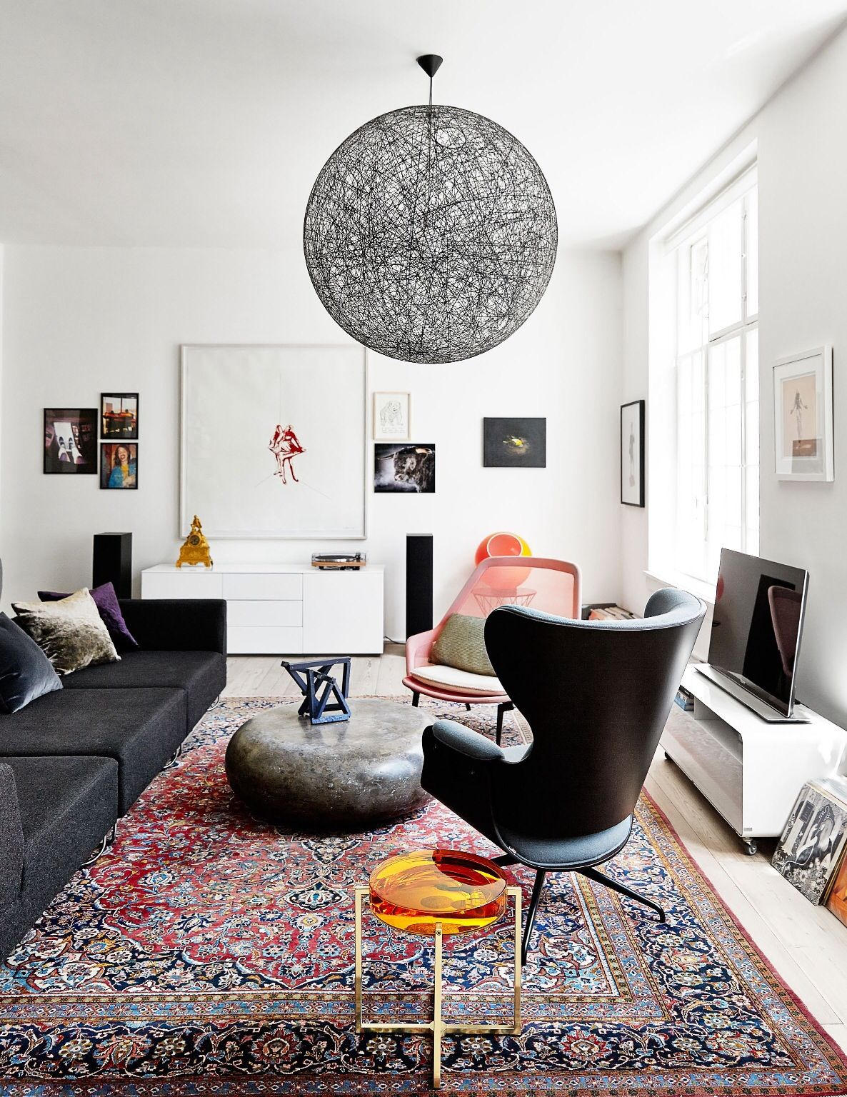 Mix Of Colours And Textures Against White Interior Home Living Room House Interior #textures #for #living #room
