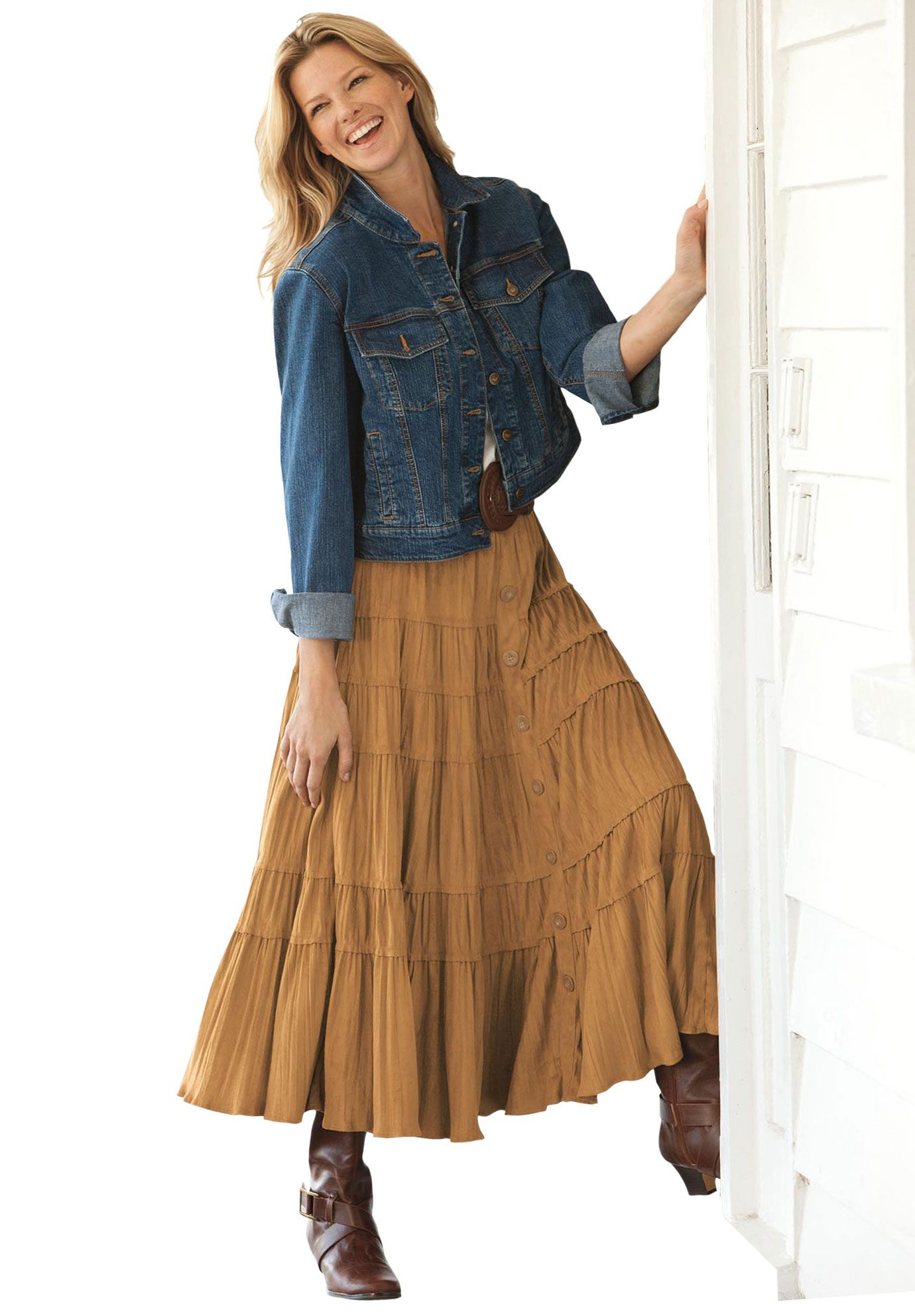 Plus Size Skirt in soft-as-suede moleskin  ff5e13cb3dc7