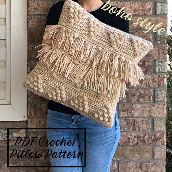 Crochet Pillow Pattern, Boho Pillow Pattern, Crochet PDF Pattern, Couch Pillow Pattern, Accent Pillow Pattern