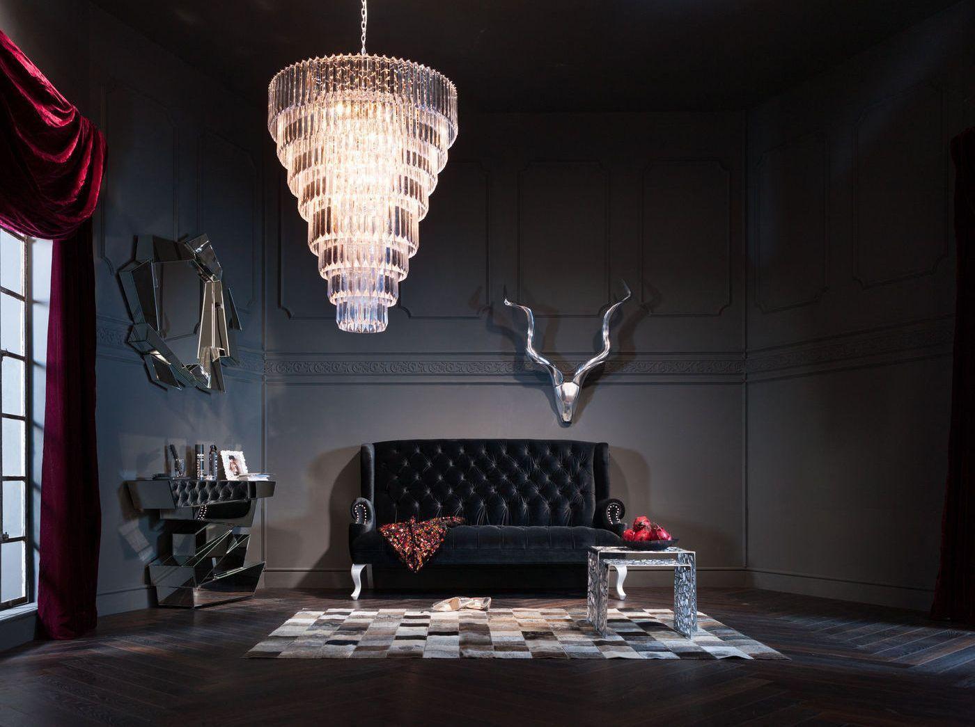Design Bank Stof.Kare Design Bank Barocco Black Stof Zwart Zwarte Bank