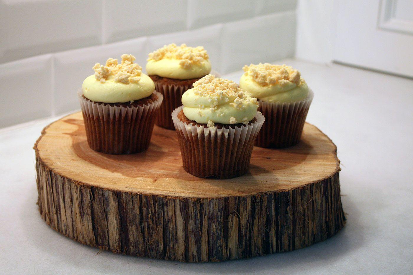 Hummingbird Cupcakes with Lemon Cream Cheese Frosting