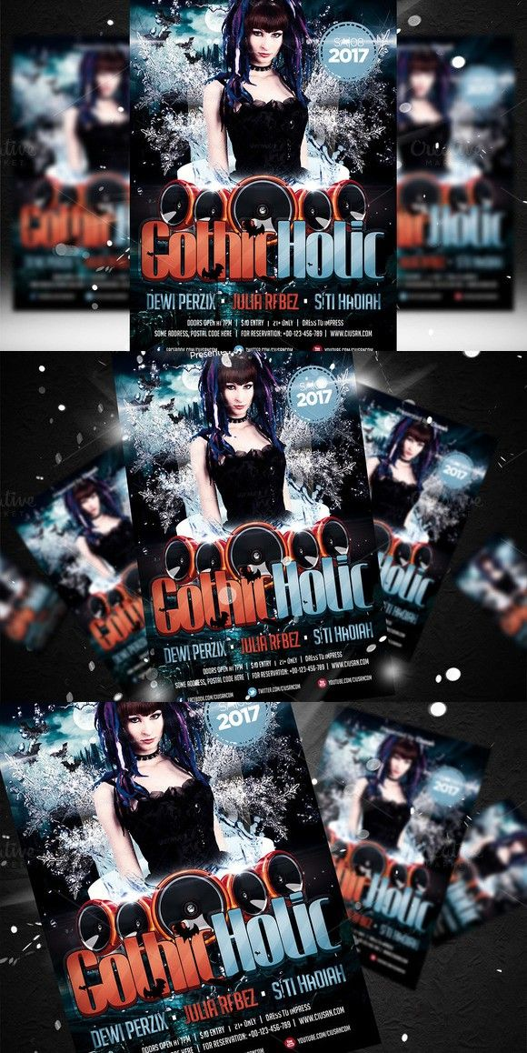 gothic holic flyer template flyer templates pinterest flyer