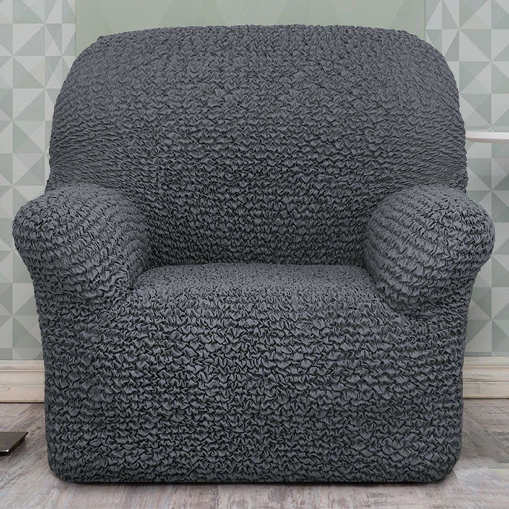 Novacovers Two-Way Stretch Sofa Slipcover - Microfiber Elastic Embossed  Fabric Couch Cover Pet Furniture