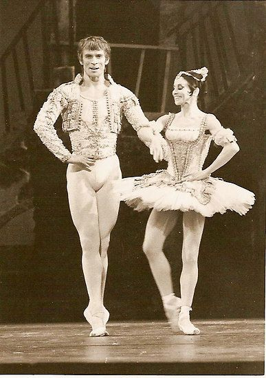 Nureyev and Lucette Aldous in 'Don Quixote', 1973.