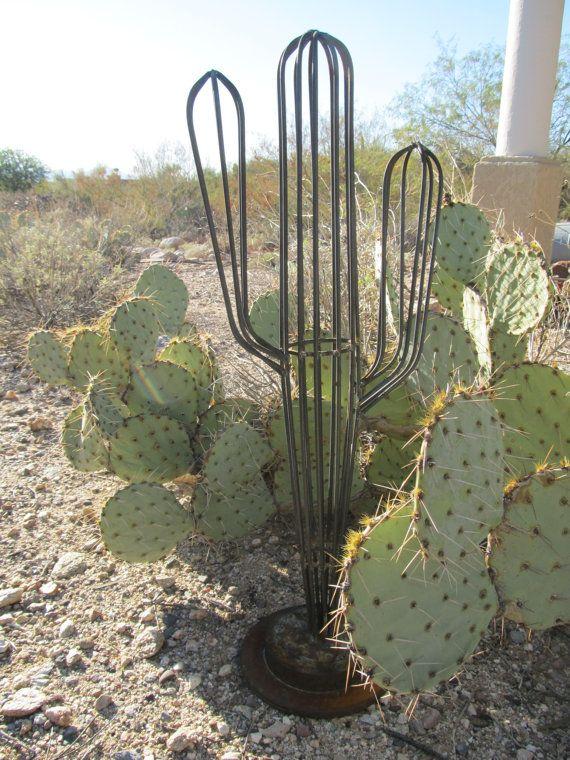 Saguaro Steel Sculpture Rustic Western Art by MadeNTheSun on Etsy ...