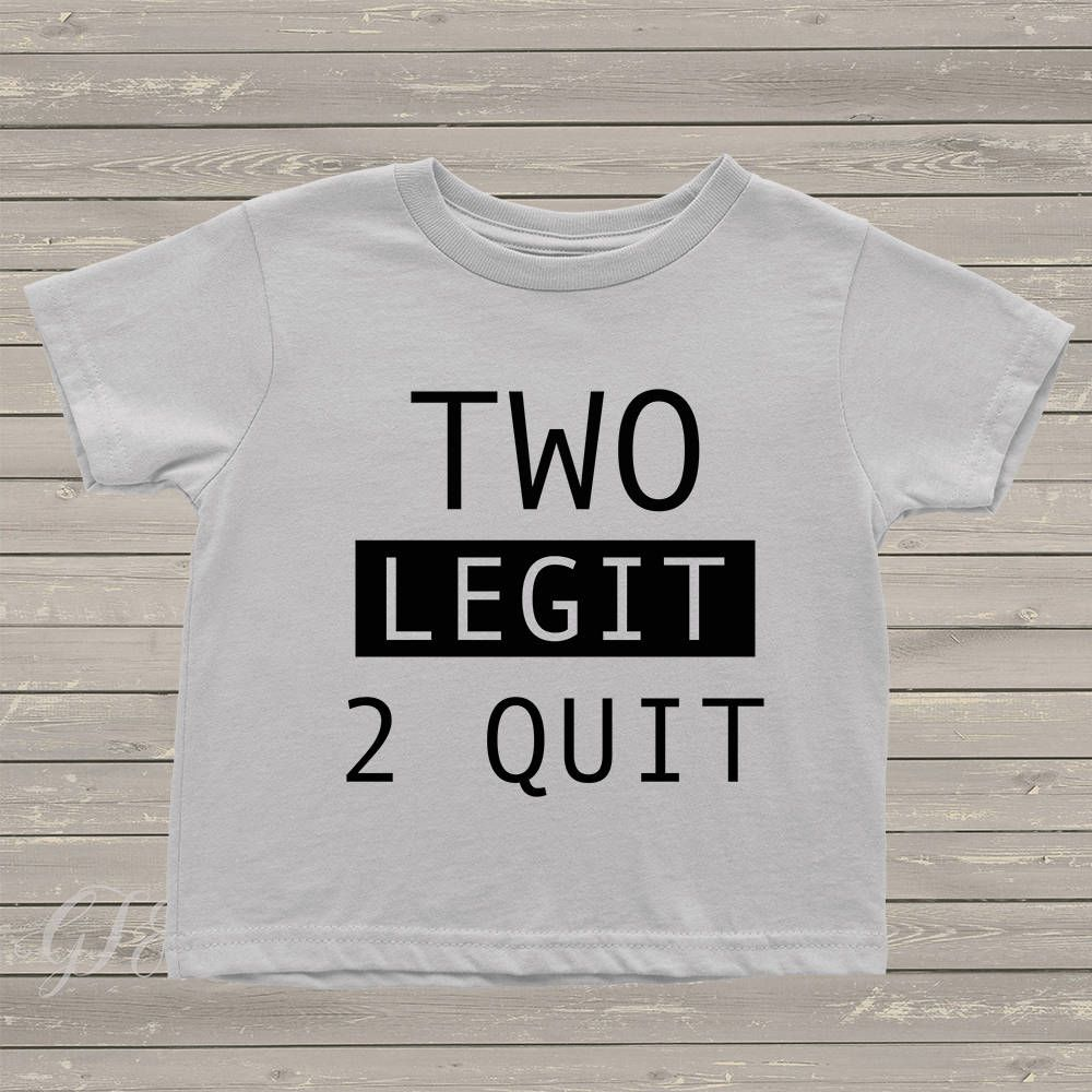 c27656afe TWO Legit 2 Quit boys tshirt, two legit to quit, birthday shirt, 2nd  birthday, second birthday, birthday boy, little boys shirts by  GigglesTeesAndMore on ...