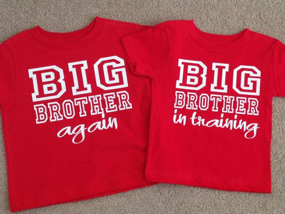 eb7e29dd90f9 Big Brother shirt Set Of 2 Big Brother Shirts Again And In Training ...
