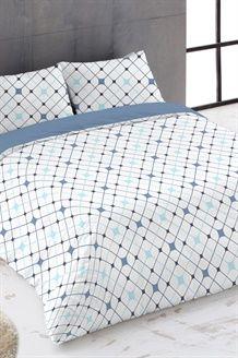 Conjunto edredão algodão 57 fios/cm² - Azul