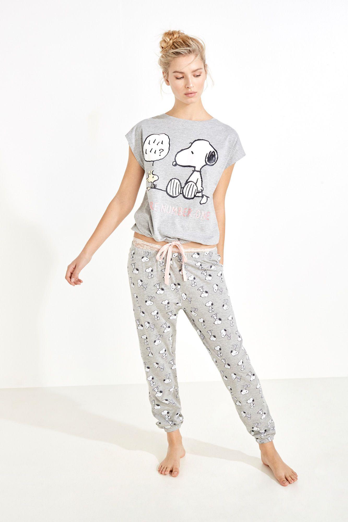 ff8aa500 Pijama largo de Snoopy | Pijamas largos | Women'secret | pijamas ...