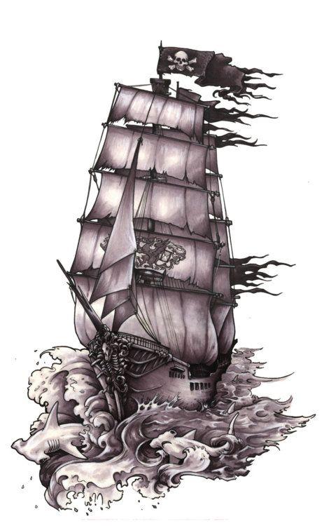 pirate ship tattoo | Tumblr | Tattoo-spirations | Pinterest ...